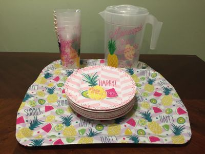 Never used - summer eating set