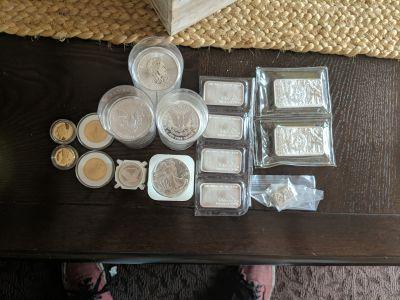 Silver and gold bouillon