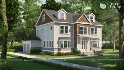 3D Exterior Rendering and 3D Exterior Design, Architectural Services India, USA