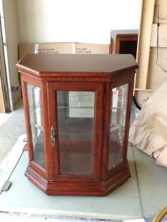 Cherry Wood/Glass Curio Cabinet