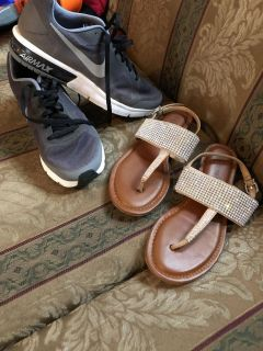 Nike Air max great condition , And GB sandals