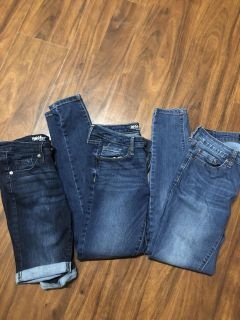 Women s jeans and Bermuda shorts