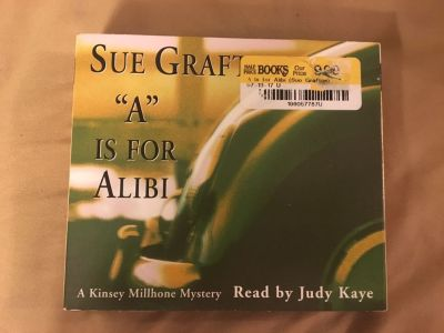 A is for Alibi , fictional book by Sue Graft. 3 CD s. 3 disc audio book!! New condition!! Will bundle! See all pics!