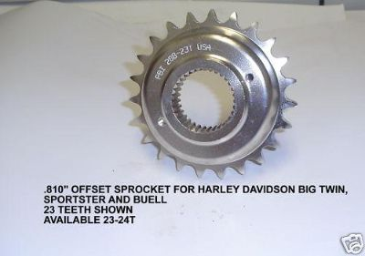 "Purchase HARLEY BIG TWIN SPORTSTER BUELL BIG TIRE .750"" OFFSET FRONT SPROCKET 22 TEETH motorcycle in Clearwater, Florida, US, for US $67.95"