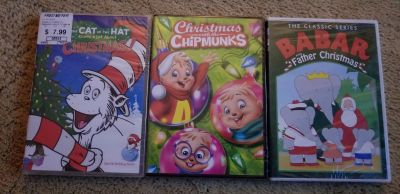 BN Lot of 3 Childrens Christmas DVD's $10 for all!