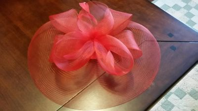 Red Topper Hat with comb