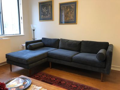 Compact sectional, 2 piece, Left side chaise,