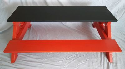 Children's Picnic Table w optional Chalkboard Top Handcrafted, Custom Colors NEW Local pickup or...