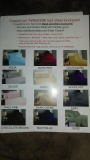 Bed sheets fundraiser for daughters cheer gym