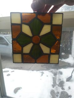 Stained glass hanging decoration