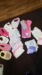 LOTS of infant girl accessories! Perfect for a gift!