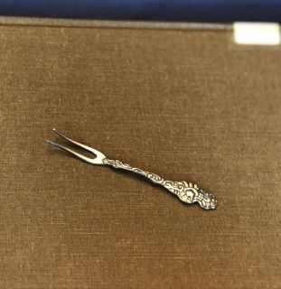 Silver Vintage Hors d oeuvres Fork 3 1/2 long