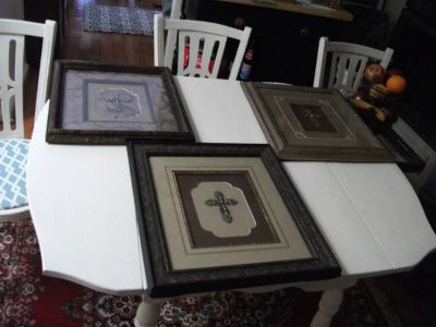 HOBBY LOBBY CROSS PICTURES SET OF THREE