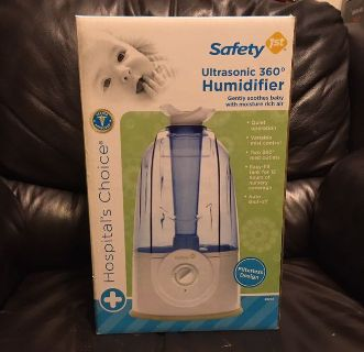 Safety 1st Ultrasonic 360 Degree Humidifier Filterless design New