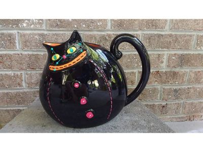 KITTY CAT DRINKING PITCHER, DEPT. 56 MATCHES ...