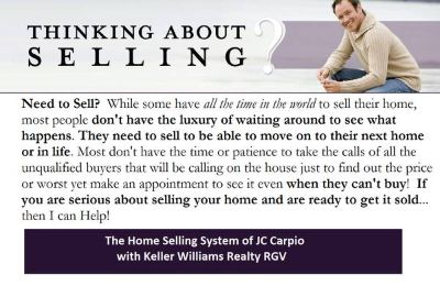 WANT TO SELL YOUR HOME QUICKLY. . . IN LESS THAN 120 DAYS (McAllen, Mission, Edinburg)