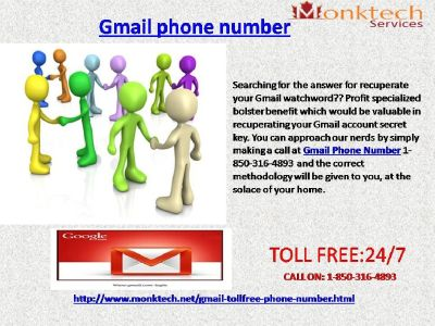 Weed out Problems with Gmail Phone Number like Never Before@ 1-850-316-4893