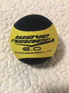 Wave runner ball, glides over water like skipping rocks! Great for dogs and people!