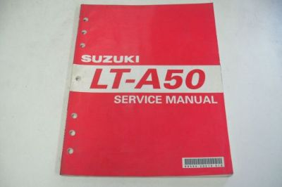 Find SUZUKI ATV DEALER TECHNICAL SHOP SERVICE MANUAL LT-A50 QUADRUNNER 50 motorcycle in Sunbury, Pennsylvania, United States, for US $49.95