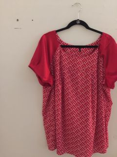 Free! 2x red silky top
