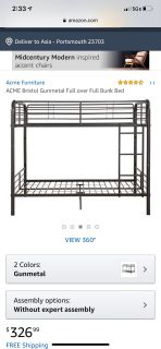 Full/twin bunk bed set