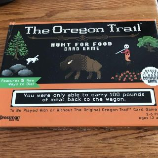 THE OREGON TRAIL HUNT FOR FOOD CARD GAME NEW