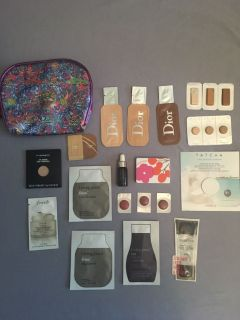 Sephora samples + Ed Hardy makeup bag