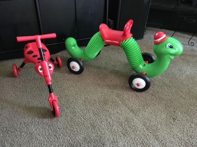 2 almost new riding toys just in time for Christmas
