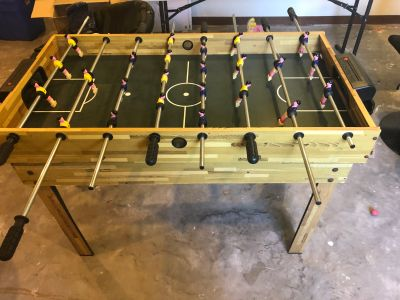 Foosball & pool table