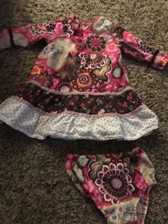 Children s place dress with diaper cover