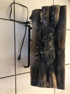 Blazing fake woods for fireplace