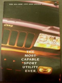 Buy 1999 Jeep Grand Cherokee Dealer Prestige Sales Brochure 4X4 SUV motorcycle in Holts Summit, Missouri, United States, for US $29.98