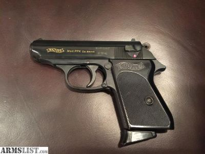For Sale: Walther PPK 8mm Blank Firing Pistol
