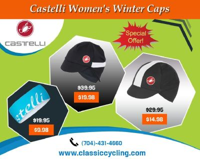 Huge Discount on Castelli Women Winter Cycling Caps – 28144, NC