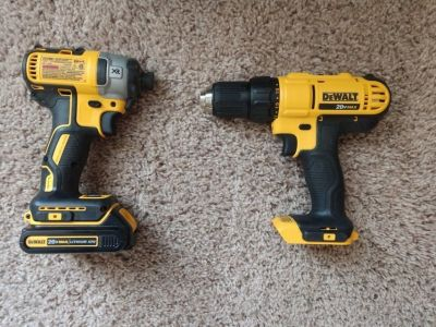 brushless impact drill w/ compact drill and other items