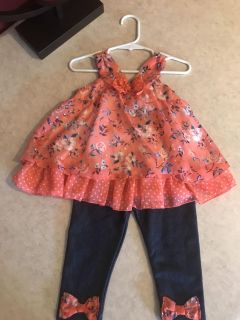 Adorable Little Lass Outfit Girls Size 24 Months Excellent Condition $3.00