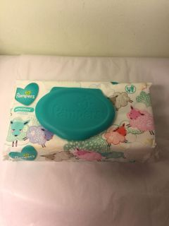 Pampers sensitive baby wipes, 56 count