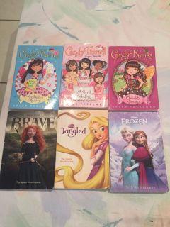 6 kids paperback books