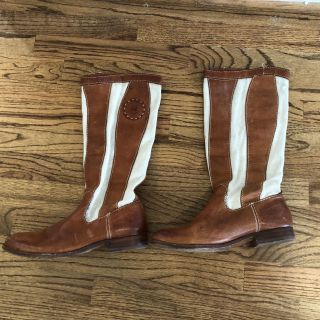 Frye leather & canvas riding boots 8