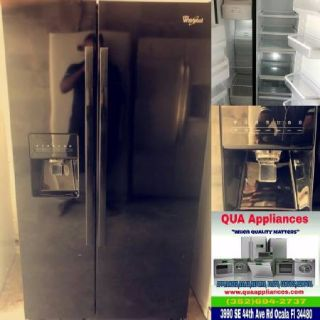 Whirlpool Black side by Side Fridge