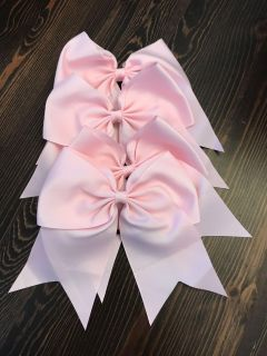 New cheer bows with pony tail back