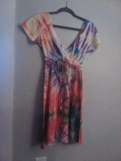 Tie dye with hearts. Sz small. Stretchy with elastic waist. New without tags.