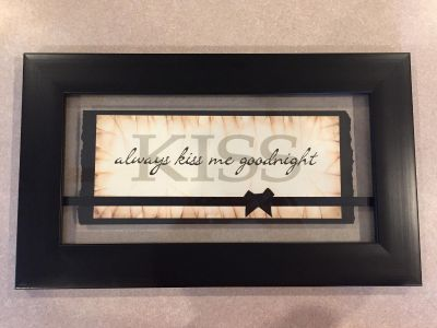 Wall Decor - Always Kiss Me Goodnight - black picture frame art