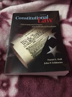 Constitutional Law Textbook 3rd Edition