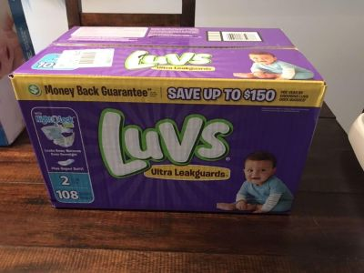 Size 2 Diapers - Luvs Ultra Leakguards