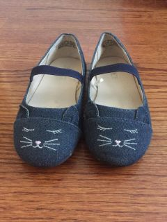 Children s Place denim kitty shoes, size 9