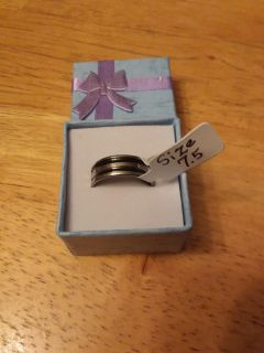 Size 7.5 stainless steel ring for $2