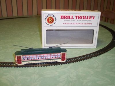 $35 OBO Bachmann: Brill Trolley (Happy Holidays) Motorized Trolley Car (Street Car)