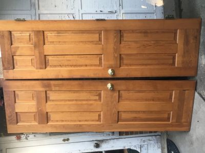 Pair of Oak Closet Doors