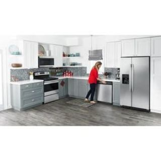 Amana Stainless 4-Piece Kitchen Suite with Side by Side Refrigerator